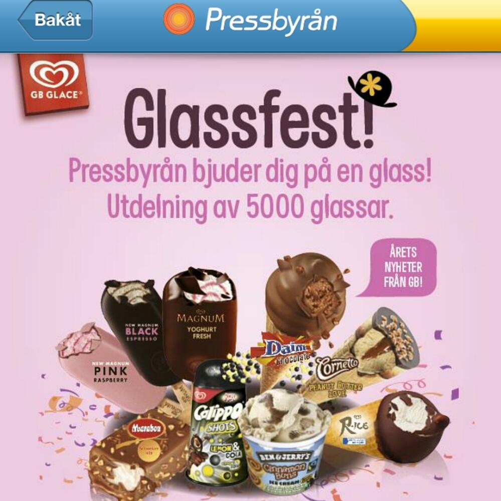 halva priset på glass pressbyrån 2020