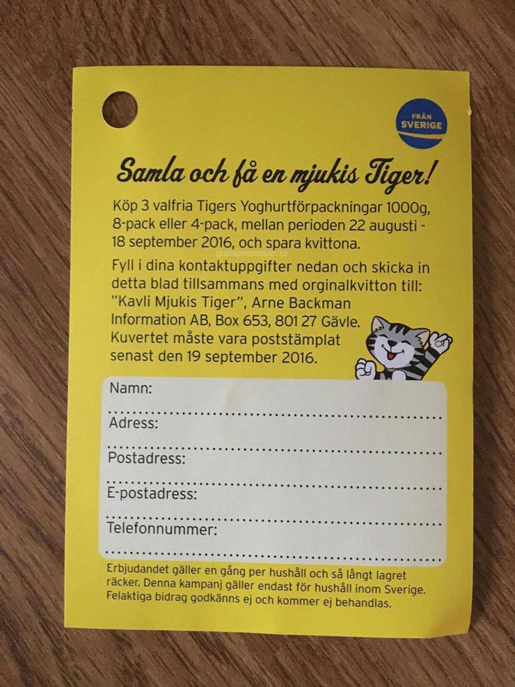samla och få tigers mjukdjur