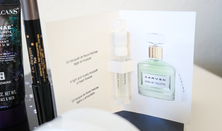 glossybox christmas sparkle carven parfym