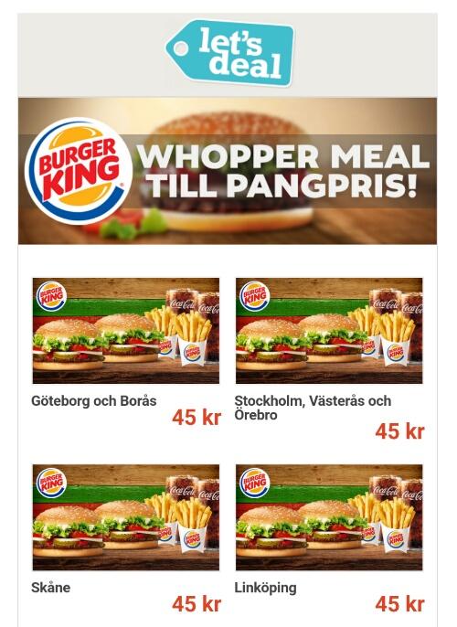 Rabatt coupons burger king