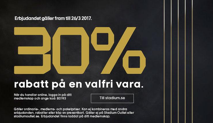 RABATT PÅ STADIUM