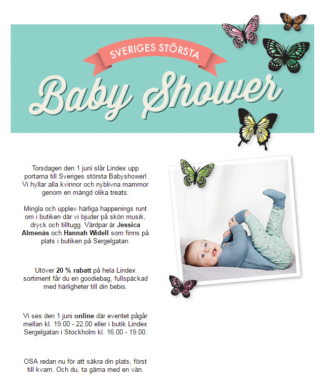 sveriges största babyshower