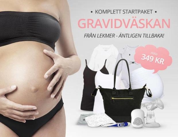 lekmer gravidväska
