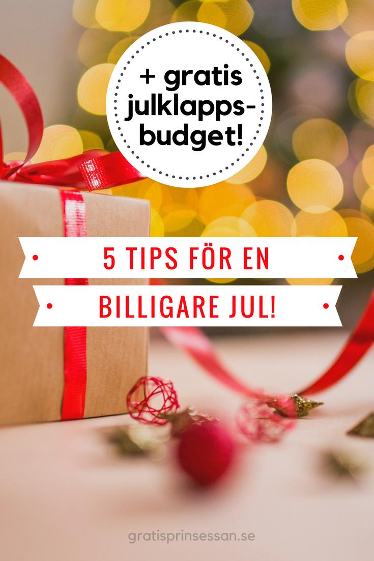 5 tips för en billigare jul