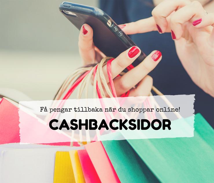 cashbacksidor - pengar tillbaka när du shoppar online
