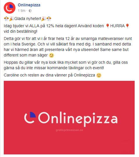 onlinepizza rabatt