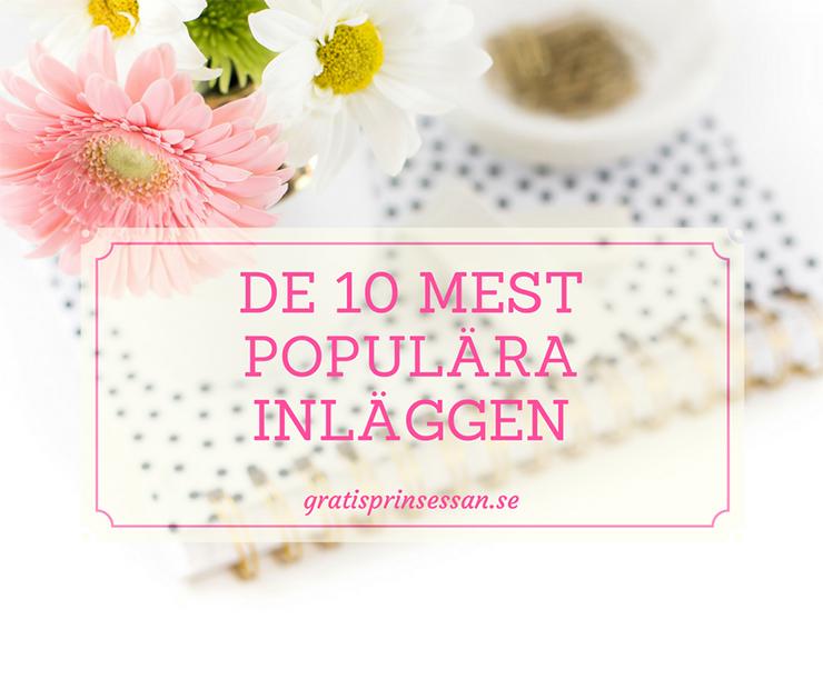 de 10 mest populära inläggen