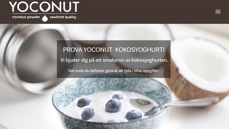 gratis smakprov på yoconut