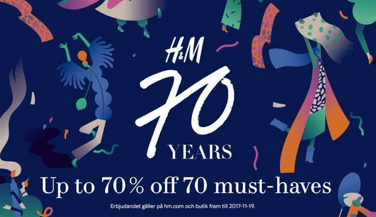 H&M 70 år