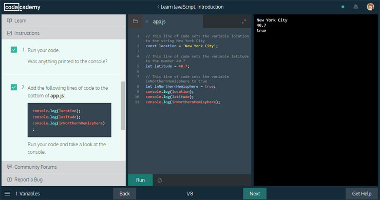 lär dig programmering gratis - codeacademy