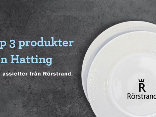 samlarkampanj hatting Rörstrand assietter