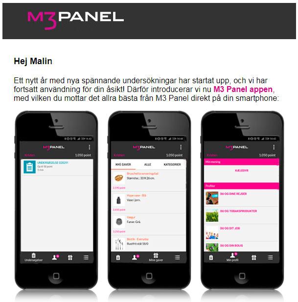 m3 panel appen