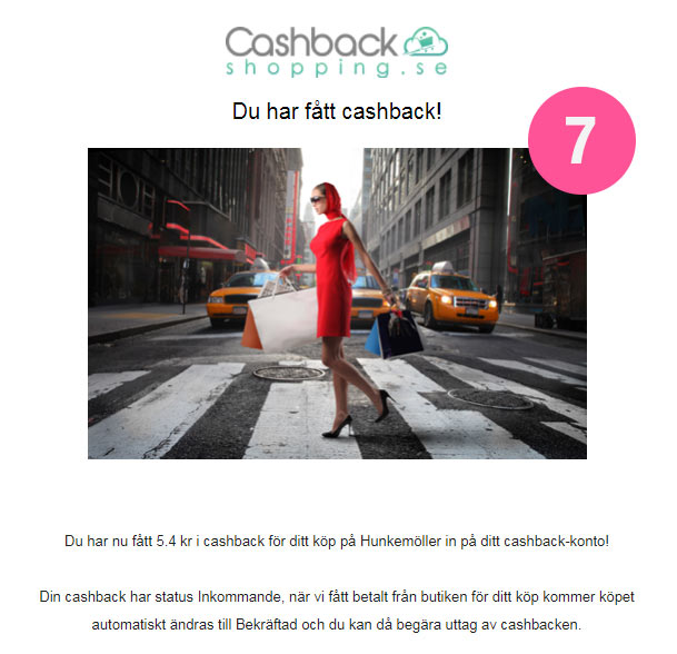 cashbacken registreras