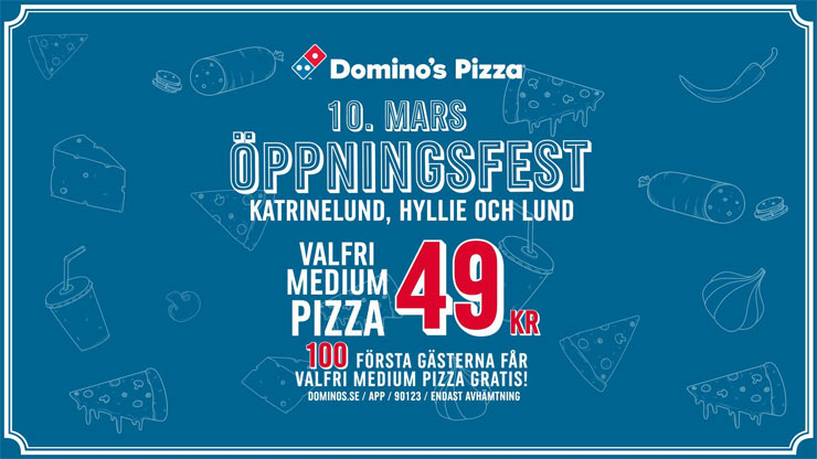 dominos gratis pizzor