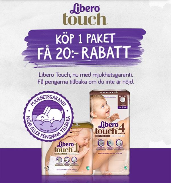rabatt på libero touch blöjor