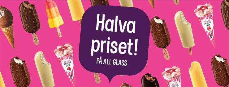 halva priset på glass hos pressbyrån