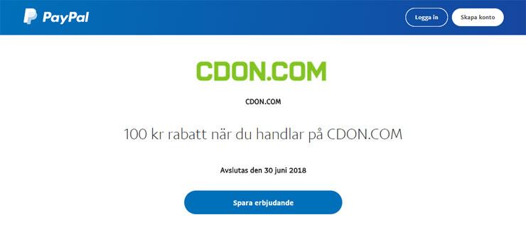 paypal cdon