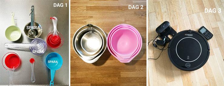 rensa ut 31 saker i juli - dag 1-3