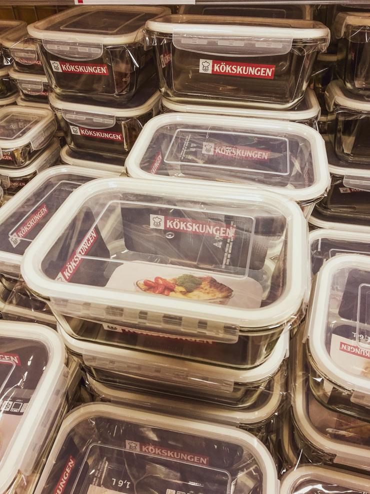 kökskungen matlådor i glas