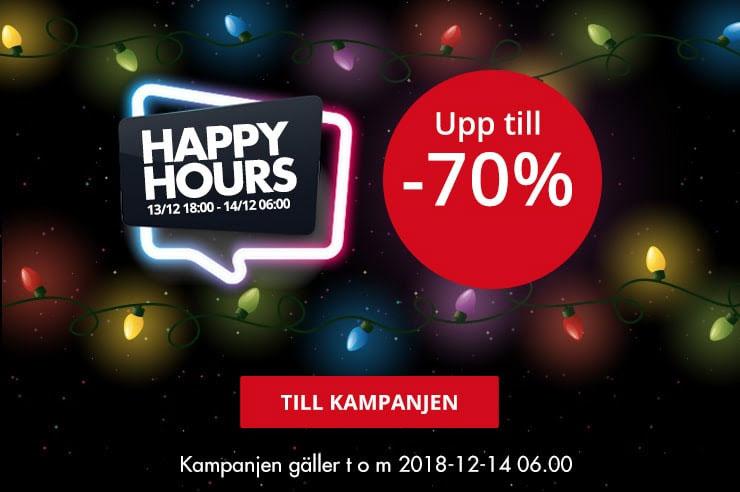 cee4a0a3dbbf Just nu är det Happy Hours hos CDON. De har rabatter på utvalda produkter  till kl 06.00 imorgon bitti. Det ska vara upp till 70% rabatt.