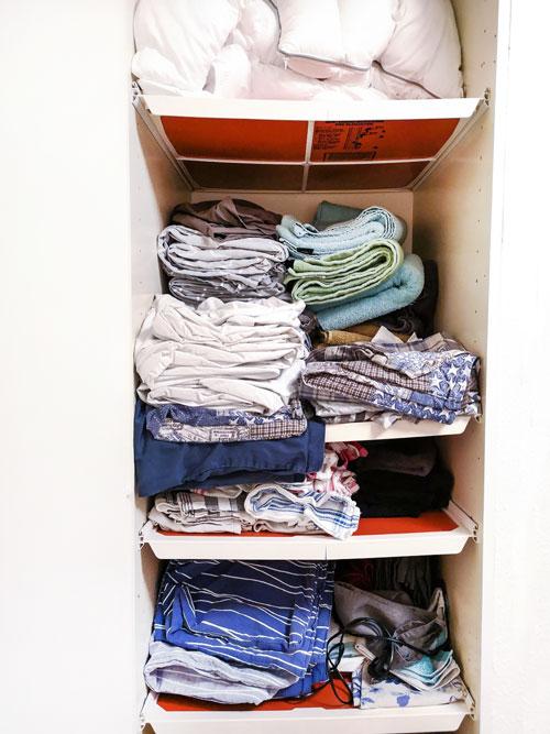 rensa ut - linneskåpet - före