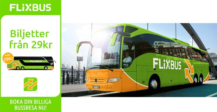 flixbus rabatt - bussresor