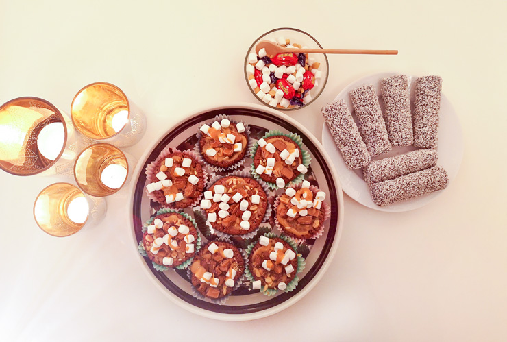 rocky road muffins