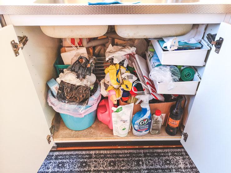 vecka 6 - rensa under diskbänken