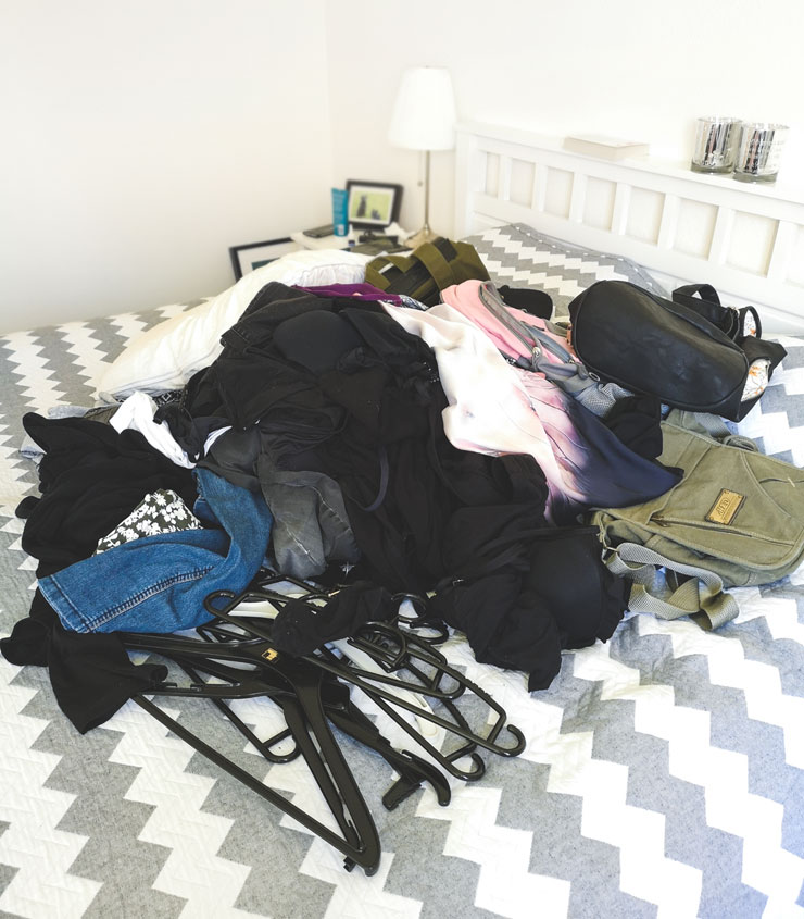 vecka 7 - organisera garderoben