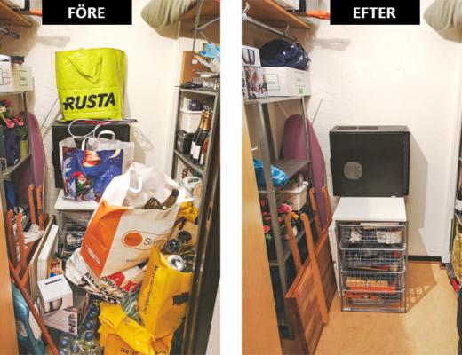 rensa och organisera förråd