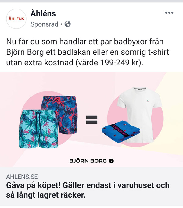 e69d2987b17 Köp badbyxor från Björn Borg - få ett badlakan eller t-shirt ...