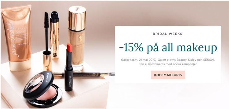 15% rabatt på all makeup hos Eleven