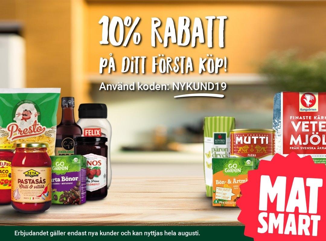 Matsmart gratis frakt 2019