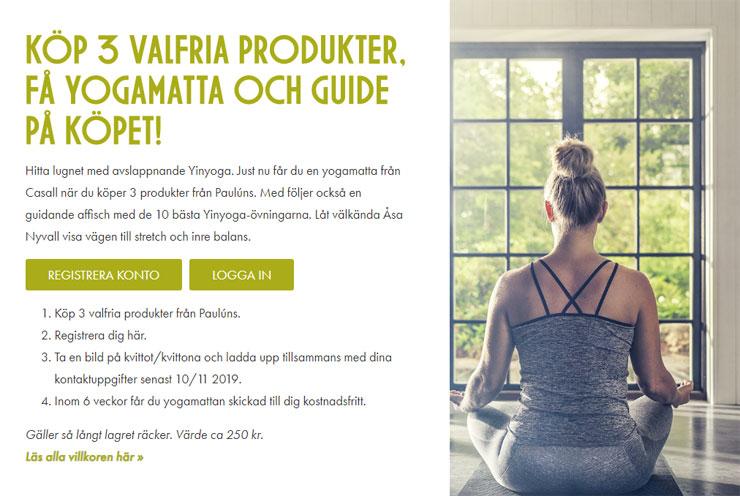 pauluns samlarkampanj - gratis yogamatta
