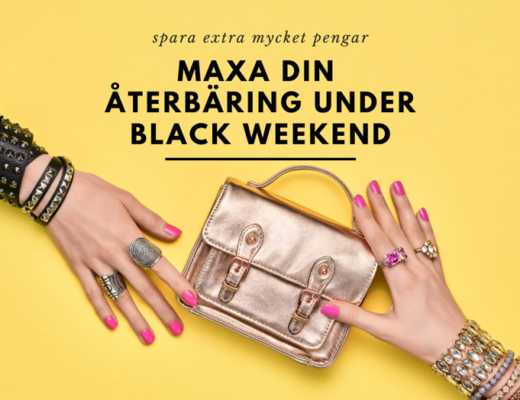 maxa din återbäring under black weekend