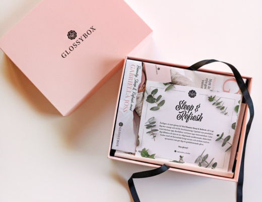 glossybox januari 2020 - sleep & refresh