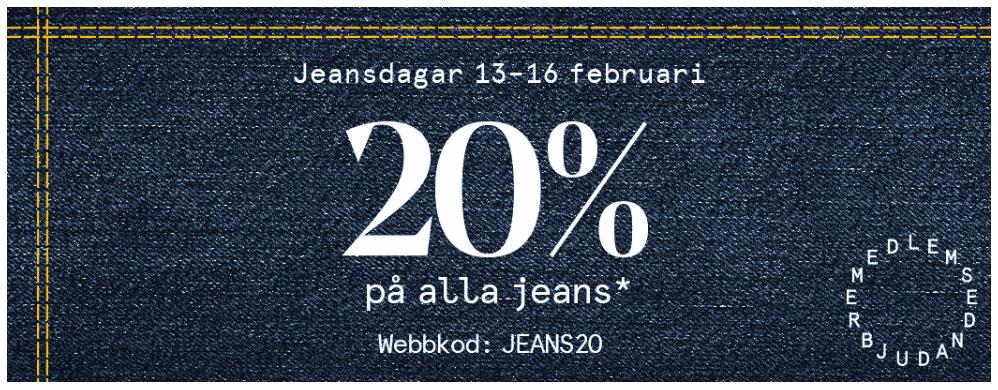rabatt på jeans