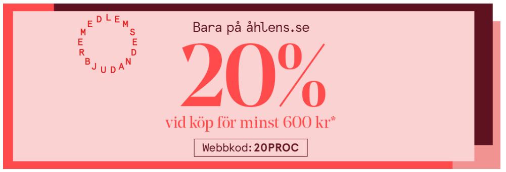 åhléns - 20% rabatt