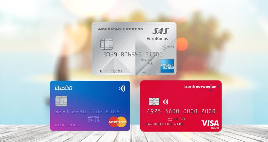tre kort för dig som gillar att resa - kreditkort