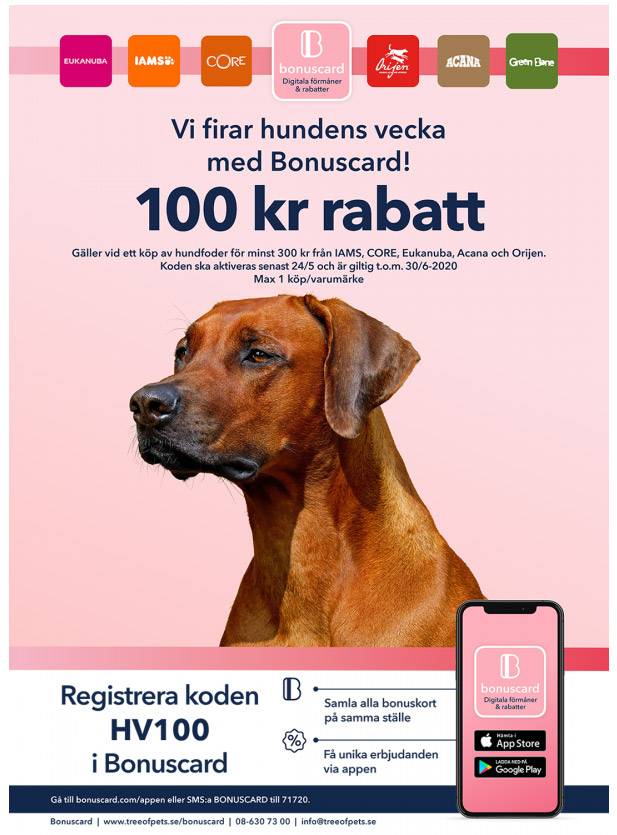 bonuscard hundens vecka