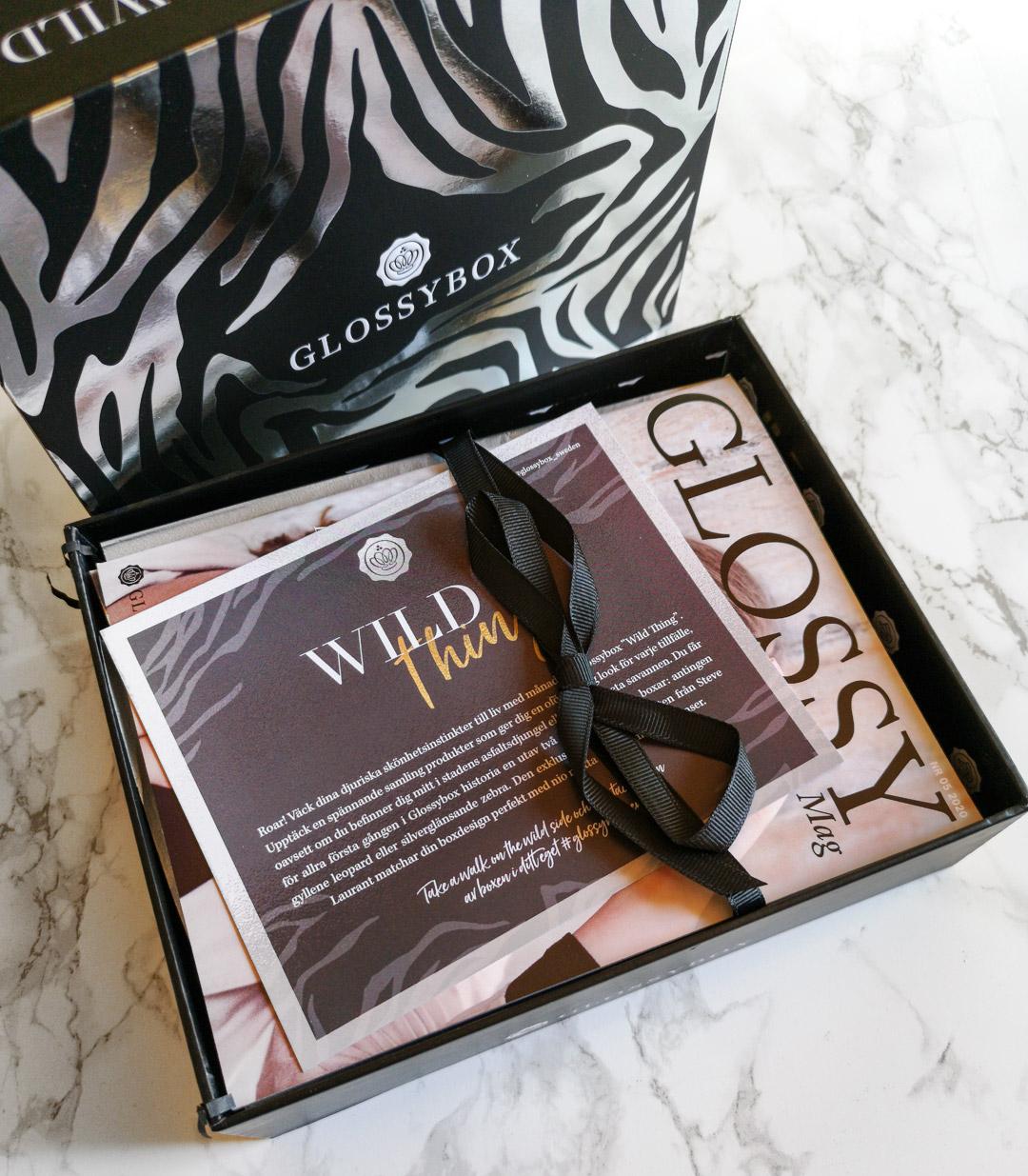 glossybox maj 2020 - wild thing - zebra