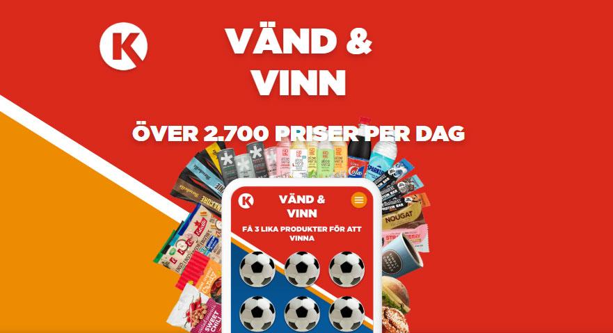 circle K spel - vänd & vinn