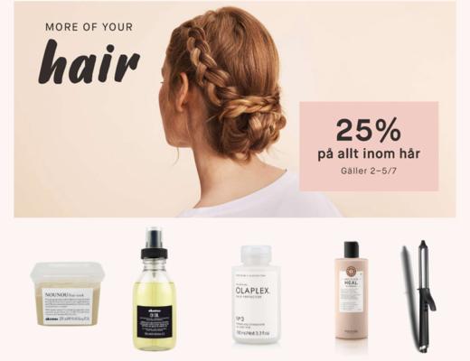kicks - 25% rabatt på hårprodukter