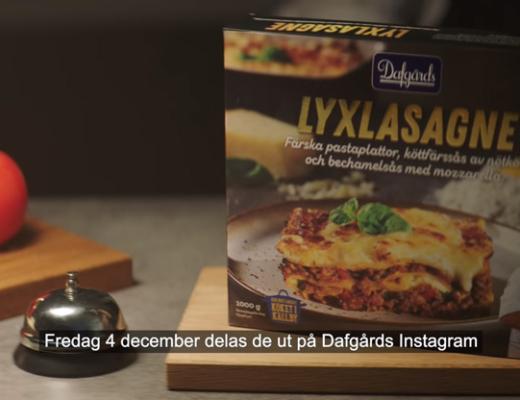 dafgårds delar ut 10 000 gratis lyxlasagne