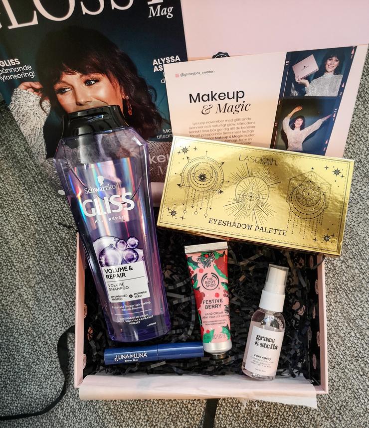 glossybox november 2020 - makeup & magic