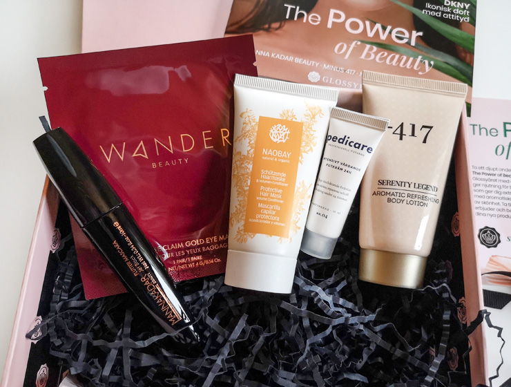 innehåll i glossybox januari 2021 - the power of beauty