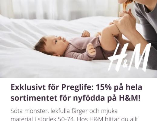 H&M rabattkod nyfödd