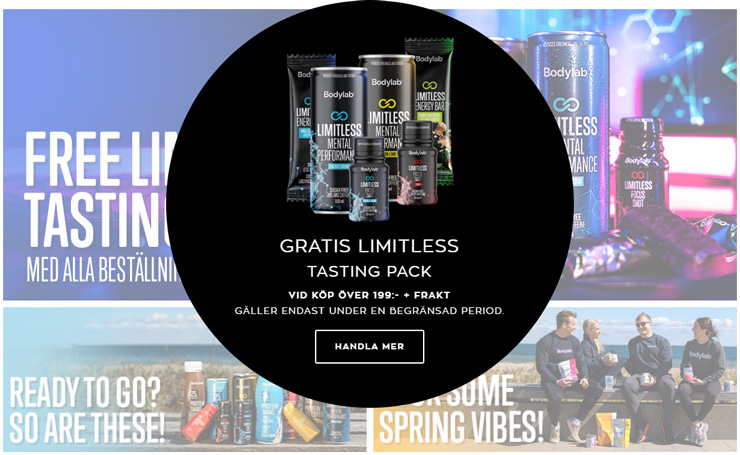 gratis limitless tasting pack