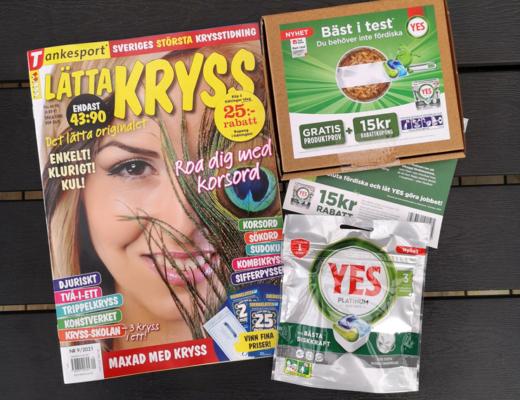 lätta kryss från tidningskungen och gratisprov från yes