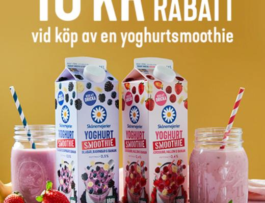 skånemejerier yoghurtsmoothie rabatt